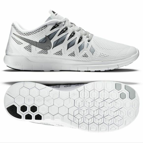 Nike Free 5.0 Men's Running Shoe White/Wolf Gray